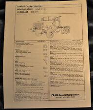 New listing Vtg Am General Tech Sheet Drawings M943 W/W N