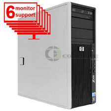 6 Monitor Trading Computer PC HP Z400 Xeon W3505 2.53Ghz 8GB 250GB Win10 Pro