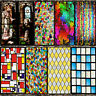 Static Cling Frosted Stained Glass Window Door 3D Sticker Film Privacy Decor