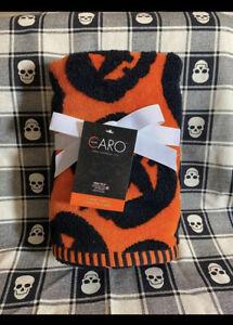 New CARO Halloween Black Pumpkin Theme Plush Cotton Bath Hand Towels Set of 2
