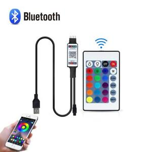 5V USB RGB Bluetooth Controller With 24key IR remote F 2835 5050 RGB LED strip