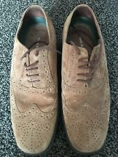 Men's Genuine HUSH PUPPIES Suede Brogue Style Shoes Tan UK 6 Used