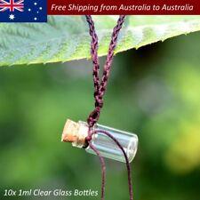 10pcs/set Mini Small Tiny Clear Cork Stopper Glass Wishing Bottles Glass Jar