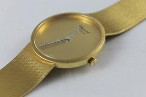 """CHOPARD """"GENEVE"""" 18K 750er GOLD LUXUSUHR MIT DIAMANTZEIGERN CA. 74g, WRIST WATCH"""