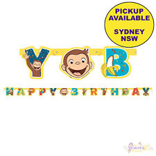 Curious George Large Jointed Banner Birthday Party Supplies. Delivery