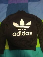 ADIDAS Black women's bomber jacket NEW(size small)