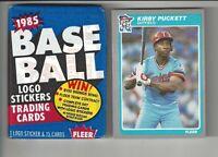 1985 Fleer Kirby Puckett Baseball Card #286 + 1 Unopened 85 Fleer Wax Pack!