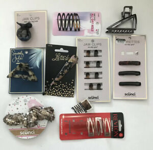 Scunci La-ta-da Revlon Hair Accessories Lot Jaw Clips Scrunchie