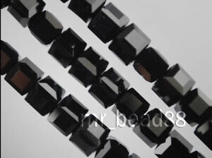 Wholesale Charms Glass Crystal Faceted Cube Square Loose Spacer Bead 6/8/10mm