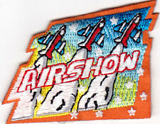 """""""AIR SHOW"""" - Iron On Embroidered Applique Patch/Aircraft, Transportation"""