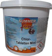 Summer Fun Chlor Tabletten Mini 5kg Hoch-& Schnellchlorung für Swimmingpool Pool