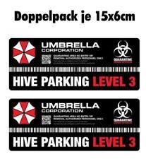 Resident Evil Umbrella Corporation Sticker Auto Aufkleber Car Hive Parking 15cm