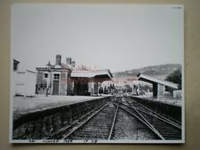 PHOTO  10 X 8 INCHES - Monmouth Troy station looking towards Ross CLOSED 1958