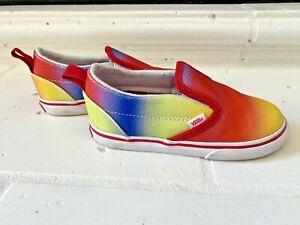 Vans Girls Shoes Toddler Rainbow Sneakers Sz 9.5 ~ RARE ~