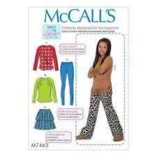 McCall's SEWING PATTERN  Raglan Sleeves Tops Tiered 10 TO 16  -  M7463-GIRLPLUS