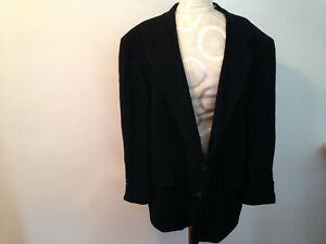 CROP & SADDLE Black 100% Cashmere Men's Sport Coat Jacket Blazer Size 48R