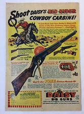1950 Daisy BB Gun ad page ~ SHOOT RED RYDER'S COWBOY CARBINE