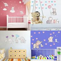 Baby Elephant Cute Animal Wall Sticker Cartoon Kids Nursery Baby Room Art Decal