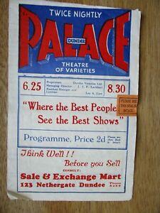 DUNDEE PALACE THEATRE PROGRAMME, 29 NOV.1948, ROBERT WILSON, IVY BENSON