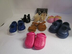 """Lot of 7 Pairs Shoes 18"""" Dolls ~ Our Generation ~ American Girl ~ Battat & Bag"""