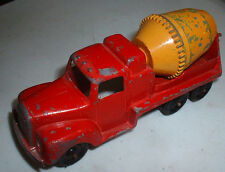Toy Red & Yellow Cement Truck -Tootsie Toy