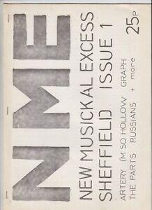 New Musickal Excess, No. 1, 1978 Sheffield-based punk fanzine