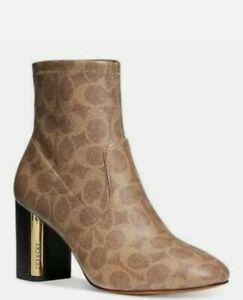 COACH Women's Margot ankle Bootie Tan Size 6 $165