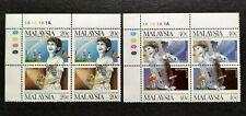 1987 Malaysia International Conference Drug Abuse Stamps x2 sets MNH OG (Lot B)
