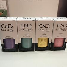 CND Shellac Gel Color 0.25fl.oz CHIC SHOCK Collection Set of 4 Bottles