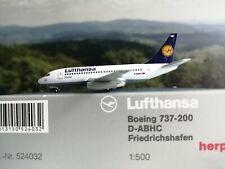 """Herpa Wings 1:500 524032 Lufthansa Boeing 737-200 Friedrichshafen """"D-ABHC"""""""