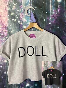 "VIOLET WOLVES ""DOLL"" WOMENS KIDS PUSSYCAT DOLLS TOUR T-SHIRT CROP TOP"