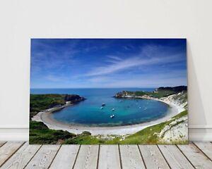 Lulworth cove dorset summer seascape jusrassic coast canvas picture print