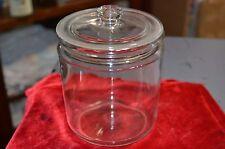 "RARE SMALL SIZE 6.5"" ANTIQUE ALL GLASS APOTHECARY JAR w/LID PRISTINE SUPER SALE"
