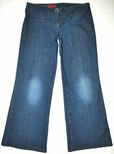 AG Adriano Goldschmied Women's Suzie Q Drk Blue Wide Leg Jeans 30 X 30 AWESOME