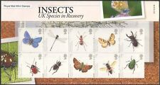 GB 2008 Insectes/Papillons/Libellule/scarabées/ANT/Conservation 10 V Pack (n43210)