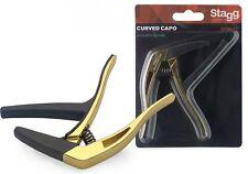 Trigger-Kapodaster für Akustik u. Elektrik-Gitarre Capodaster Gold-farben