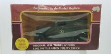 YORKSHIRE CO 1:25 SCALE 1931 MODEL A FORD LINE INSTALLATION UTILITY TRUCK