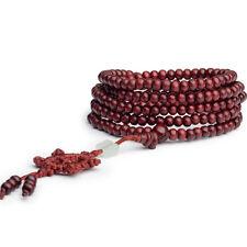 6mm 216 Prayer Bead Sandalwood Buddhist Buddha Meditation Mala Bracelet Necklace