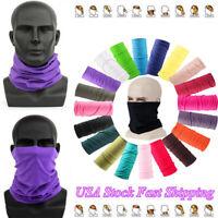 4PC Multifunctional Tube Scarf Bandana Mask Neck Gaiter Snood Headwear Beanie DE