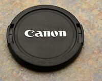 Canon EOS E 58mm Snap-On Front Lens Cap Chrome Logo 18-55 55-250 75-300 (#1597)