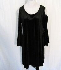 8c47d4e223d Nina Leonard Womens Party Dress XL 3 4 Bell Sleeve Cold Shoulder Velvet