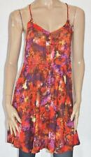 WISH Designer Orange Multi Print Wilderness Sun Dress Size XS BNWT #st25