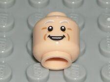 LEGO Light Flesh Head Dual Sided Light Gray Eyebrows Doc Brown Minifigure 71230