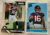 2018 Optic/Prizm Keke Coutee RC Lot (2) Prizm +Donruss Optic Rated Rookie🔥HOT🔥