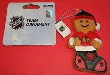Forever NHL CHICAGO BLACKHAWKS Christmas Team Ornament Brand New & Hang Tags