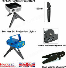 Trípode Pequeño Portátil soporte Plegable Para Mini Proyectores Dj Luces Grabadores Reino Unido