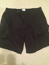 Mens St. John's Bay Navy Blue Flat Front Dress Shorts SZ 38