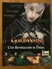 Guild Wars PC 2005 Vintage Poster Ad Art Print Official Promo RPG Fantasy Rare
