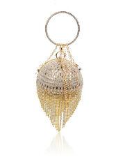 Big Cystal Diamante Ring Ladies Clutch Handag/ Bridal Wedding Party Evening Bag Black