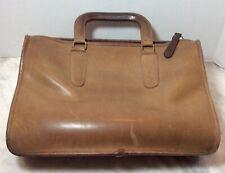 VINTAGE 1970's COACH Brown Leather Handles Briefcase Handbag Purse
